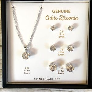 Jewelry - Cubic Zirconia Necklace and Earring Set